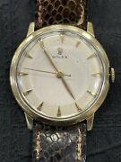 Vintage Rolex 14k Yellow Gold 17 Jewels Cal. 1210 Manual Wind 33mm Watch