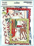 Winter Cottage Christmas 6 Baseboards Frames Simple Stories For 3x4 And 4x6 Pics