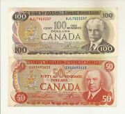Canada Issues Of 1969-1979 1, 2, 5, 10, 20, 50, 100. 7 Notes Vf 237