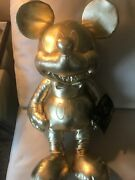 Disney Large Mickey Mouse 90th Anniversary Gold Collection Plush With Tag