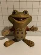 Vtg Rempel Frog 1948 Ankon Oh J.ed.mcconnell 5 Squeaks Toy