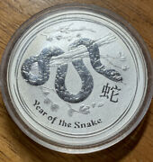 2013 Australian One Oz. Silver Coin Year Of The Snake