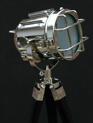 Maritime Antique Spotlight Floor Lamp With Stand Nautical Tripod Bed Lamp Decor
