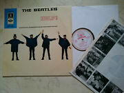 The Beatles Help 1965 Swiss Blue Dome Hörzu Export White-gold Odeon Smo 84008