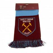 West Ham United Fc Scarf Nb Jacquard Knit Scarf Official Licensed Merchandise