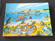 Vintage Springbok Cat Days Of Summer 500 Piece Jigsaw Puzzle 4428 Complete