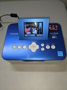Canon Selphy Cp910 Digital Photo Printer Blue Untested No Paper Tray Read