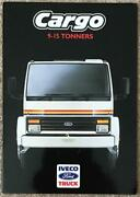 Iveco Ford Cargo 9-15 Tonners Commercial Sales Brochure 1987 C26/87