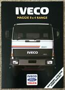 Iveco Ford Maggie 8x4 Range Commercial Sales Brochure 1989 89/321f