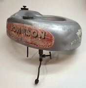 Vintage Andasymp 1952 Johnson Outboard Engine Gas Tank W/throttle Knob And Gas Line