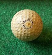 Antique Collectible Spalding 50 Fifty Dimple Golf Ball - 1.62 - 1918