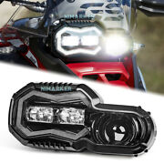 Dot Led Headlights Motorcycle Halo Drl Hi/lo Beam For F650gs F700gs F800gs F800r