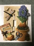Garden Light Switch Wall Cover Wall Floral Bulbs Dragonfly Hyacinth Seed Packets