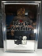 Buchanan's Black And White Blended Scotch Whisky Mirrored Sign 1978 Vintage