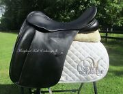 19 County Perfection Dressage Saddle-bull Leather- W/xw Tree-rare Size