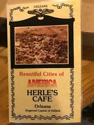 Herle's Cafe Menu Orleans Mitchell Paoli Bedford Indiana New/old Stock