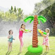 Inflatable Coconut Palm Tree Yard Sprinkler Toy, Kids Spray Water Toy Summer Out