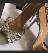 Aquazurra Tequila Sandal Sz 41 Worn Once Box And Dustbag Available