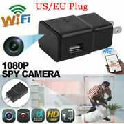 Hd 1080p Night Camera Security Wifi Spy1 Cam Usb Wall Charger Adapter Plug Cam