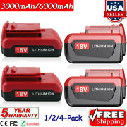 18v 6.0ah For Porter Cable Lithium Battery Pc18b Pc18bl Pc18blx Cordless Tool Us