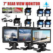 7monitor +wireless Rear View Backup Camera Night Vision For Rv Truck Bus Hd New