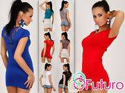 Ladies Top With Bows And Lace At The Back Tunic Scoop Neck T-shirt Sizes 8-18 8025