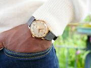 Vintage Omega Wrist Watch Automatic Cal 344 18 Ct Rose Gold Men's Gift 1952