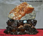 16and039and039 Chinese Xiuyu Xiu Jade Hand-carved Landscape Village Statue Ornaments