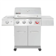 Ga4402s Stainless Steel 4 Bbq Propane 54000 Btu Cabinet Style Gas Grill Sear Sid