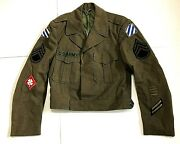 Fourth United States Army Sergeant Military 3rd Infantry Division Ike Jacket 36r