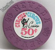 50andcent Cent Poker Gaming Chip Circus Circus Casino Las Vegas Nevada 1968 1st Issue