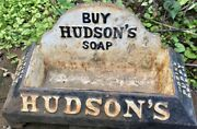 Vintage Buy Hudson's Soap Cast Iron Drink Puppy Dog Water Dish Food Bowl Trough