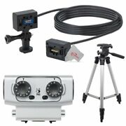 Zoom Ecm-6 19.7and039 Extension Cable With Action Camera Mount + Dual Input Capsule