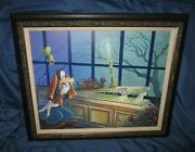 Haunted Mansion Goofy's Scare Disney Signed Art Print By Randy Noble 1 Of 95