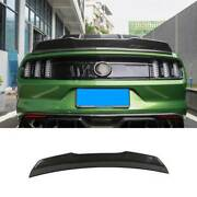 For Ford Mustang 15-2021 Robot Dry Carbon Fiber Rear Trunk Spoiler Wing Flap 1pc