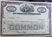 Stock Certificate Acf Industries Inc. Payee Red And Co Broker Cede And Co 1976
