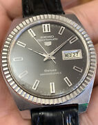 1966 Seiko Sportsmatic Deluxe 25j Day Date Automatic Vintage Watch Fluted Bezel