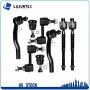 8pcs Front Upper Ball Joints Outer Tie Rod End For 2004-2015 Nissan Titan