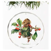 New Vera The Mouse Takes A Rest Round Beveled-glass Ornament By Marjolein Bastin