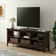 Farmhouse Tv Stand For 75 Inch Flat Screen Wood Tv Console Table Storage Cabinet
