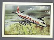 Capital Airlines Vickers Viscount Vintage Airline Postcard Manufacturer Issue