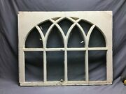 Antique Gothic Arched Window Sash Shabby 34x43 Vintage Chic Old 843-21b