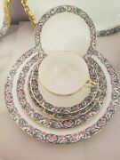 Exquisite Antique Jean Pouyat Limoges France Handcrafted 70 Pc. Dinnerware Set
