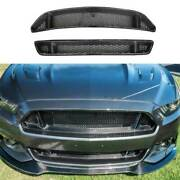 For Ford Mustang 2015-2017 Gt5.0 Dry Carbon Fiber Front Mesh Grille Grill Cover