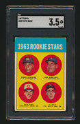 1963 Topps 537 Pete Rose Rc Sgc 3.5 Vg+ Reds Rookie Card Looks Vg/ex-centered