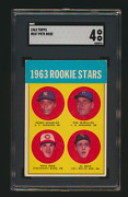 1963 Topps 537 Pete Rose Rc Sgc 4 Vg-ex Reds Rookie Card Crease Free-centered