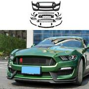 For Ford Mustang 2015-17 Gt350 Primer Black Front Center Mesh Grille Grill Cover