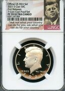 2021 S Clad Kennedy 50c Fr From 7-coin Proof Set Ngc Pf70 U.c. Portrait