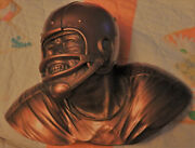 Fraser Art Sculpted Plastic Football Player Bust Wall Hanging Bossons Cheshire