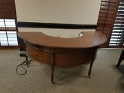 Great Used Condition Kittinger Wood Desk And Credenza